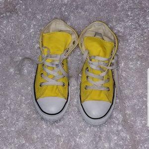 Yellow kids Converse